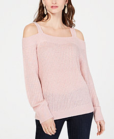 I.N.C. Petite Cold-Shoulder Sweater, Created for Macy's