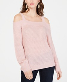 I.N.C. Cold-Shoulder Sweater, Created for Macy's