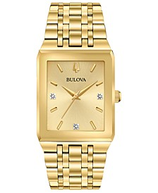 Men's Futuro Diamond-Accent Gold-Tone Stainless Steel Bracelet Watch 30x45mm