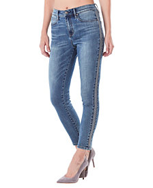 Nicole Miller New York Soho High-Rise Ankle Skinny Jeans with Studs