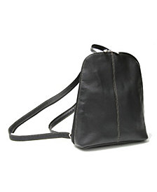 Royce Zip Around Sling Backpack in Colombian Genuine Leather