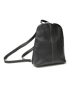 Royce Zip Around Sling Backpack in Colombian Genuine Leather