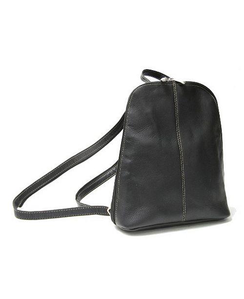 Royce Leather Royce Zip Around Sling Backpack in Colombian Genuine Leather