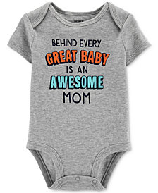 Carter's Baby Boys or Baby Girls Great Baby Graphic Cotton Bodysuit
