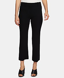 1.STATE Textured-Crepe Cropped Pants