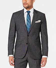 HUGO Men's Modern-Fit Dark Charcoal Suit Jacket