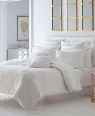 Freya White Comforter Set, King