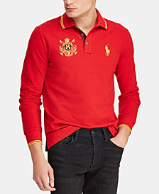 Polo Ralph Lauren Men's Custom Slim Fit Long-Sleeve Polo