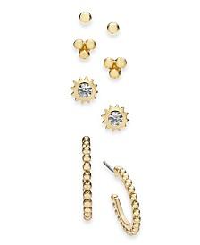 I.N.C. Gold-Tone 4-Pc. Set Stud Earrings, Created for Macy's