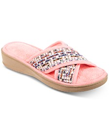Isotoner Novelty Tweed Nikki X Slide