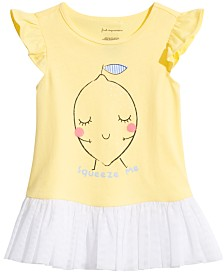 First Impressions Baby Girls Squeeze Me Graphic Top, Created for Macy's