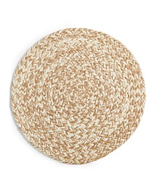 Tan Chevron Round Placemat, Created for Macy's
