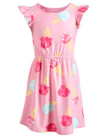 Epic Threads Super Soft Little Girls Ice Cream Fit & Flare Dress, Created for Macy's