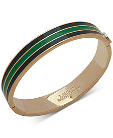 Lauren Ralph Lauren Striped Enamel Bangle Bracelet