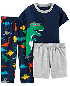 Carter's Toddler Boys 3-Pc. Dinosaur Pajamas Set