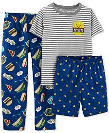 Carter's Little & Big Boys 3-Pc. Midnight Snacker Pajamas Set
