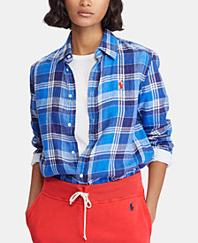 Polo Ralph Lauren Relaxed Fit Plaid Linen Shirt