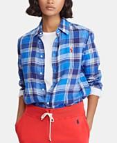 fcae1c079dc4 Polo Ralph Lauren Relaxed Fit Plaid Linen Shirt