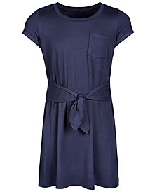 Epic Threads Super Soft Big Girls Tie-Front T-Shirt Dress, Created for Macy's