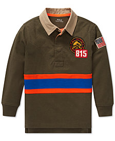 Polo Ralph Lauren Big Boys Graphic Mesh Rugby Shirt
