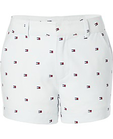 Tommy Hilfiger Little Girls Printed Twill Shorts