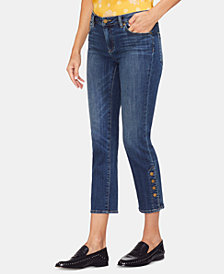 Vince Camuto Cropped Straight-Leg Jeans