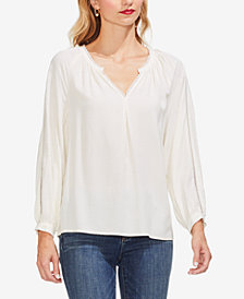 Vince Camuto Jacquard Lace-Trim Top