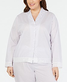 Plus Size Notch Collar Pajama Top, Created for Macy's