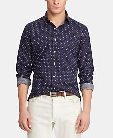 Polo Ralph Lauren Men's Slim Fit Micro-Print  Shirt