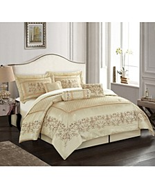 Vivian 7-Piece Comforter Set, Beige, King
