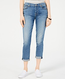 7 For All Mankind Josefina Rolled-Hem Boyfriend Jeans
