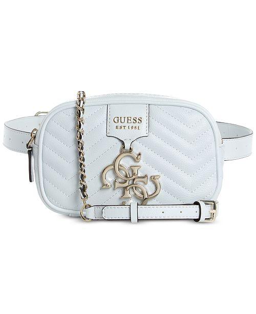 GUESS Violet Convertible Crossbody Belt Bag   Reviews - Handbags ... a1918dd8f3681