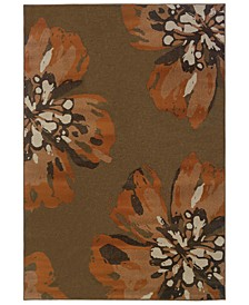 "CLOSEOUT!  Adrienne 4130C Brown/Orange 6'7"" x 9'6"" Area Rug"