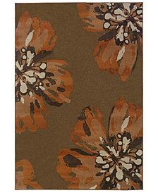 """Oriental Weavers Adrienne 4130C Brown/Orange 5'3"""" x 7'6"""" Area Rug"""