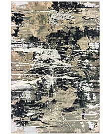 "Oriental Weavers Bowen 109E2 Black/Gold 2'3"" x 7'6"" Runner Area Rug"