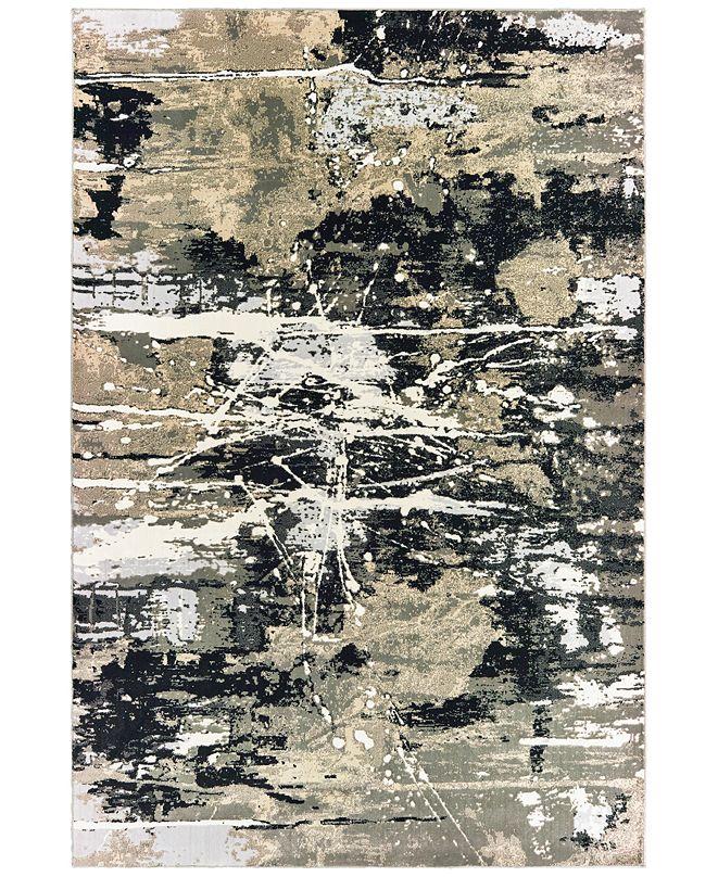 "Oriental Weavers Bowen 109E2 Black/Gold 5'3"" x 7'6"" Area Rug"