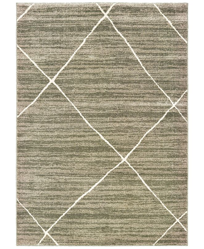 "Oriental Weavers Carson 9661A Gray/Ivory 2'3"" x 7'6"" Runner Area Rug"