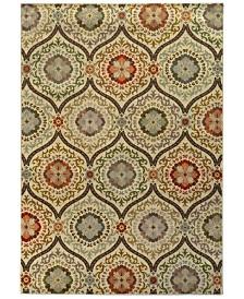 "CLOSEOUT! Oriental Weavers  Casablanca 5324A Brown/Beige 6'7"" x 9'6"" Area Rug"