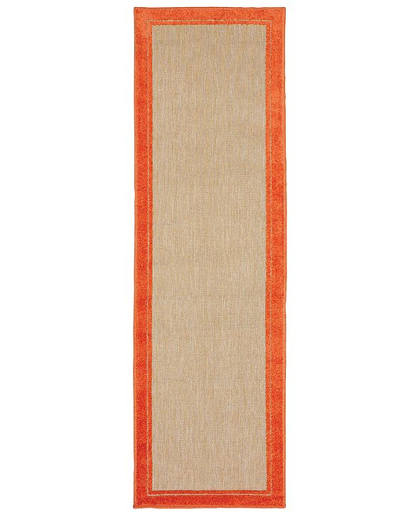 """Oriental Weavers Cayman 5594 2'3"""" x 7'6"""" Indoor/Outdoor Runner Area Rug"""