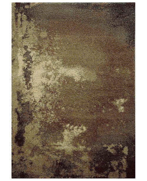"Oriental Weavers Covington Shag 2061W Tan/Gray 3'3"" x 5'5"" Area Rug"