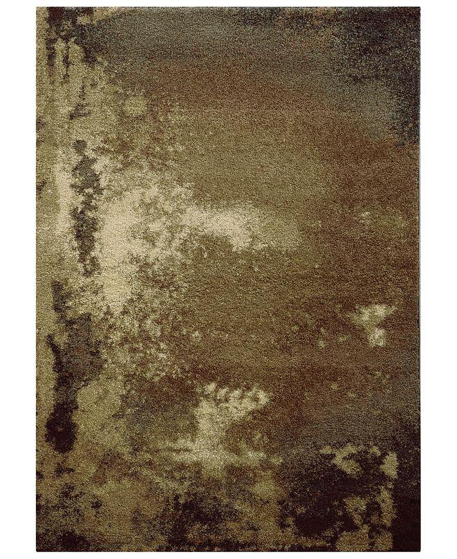 "Oriental Weavers Covington Shag 2061W Tan/Gray 6'7"" x 9'6"" Area Rug"