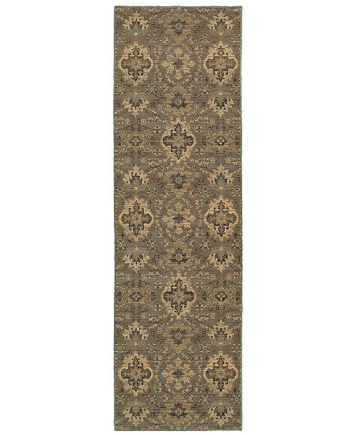 "Oriental Weavers Heritage 8028E Blue/Ivory 2'7"" x 9'4"" Runner Area Rug"