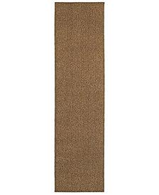 """Oriental Weavers Santa Rosa 4927N Brown/Tan 1'10"""" x 7'6"""" Indoor/Outdoor Runner Area Rug"""