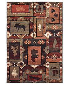 """Oriental Weavers Woodlands 9601D Brown/Rust 1'10"""" x 7'6"""" Runner Area Rug"""
