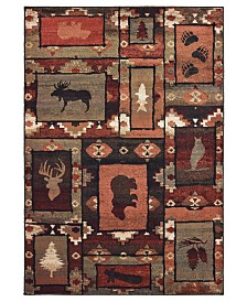 """Oriental Weavers Woodlands 9601D Brown/Rust 7'10"""" x 10' Area Rug"""