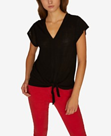 Sanctuary Ingrid Tie Front T-Shirt