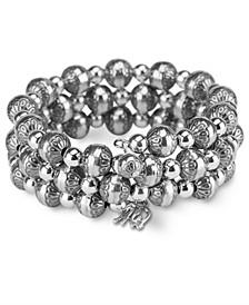 Native Pearl Coil Bracelet In Sterling Silver
