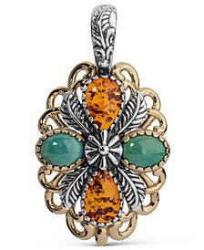 Two-Tone Amber and Turquoise Pendant Enhancer