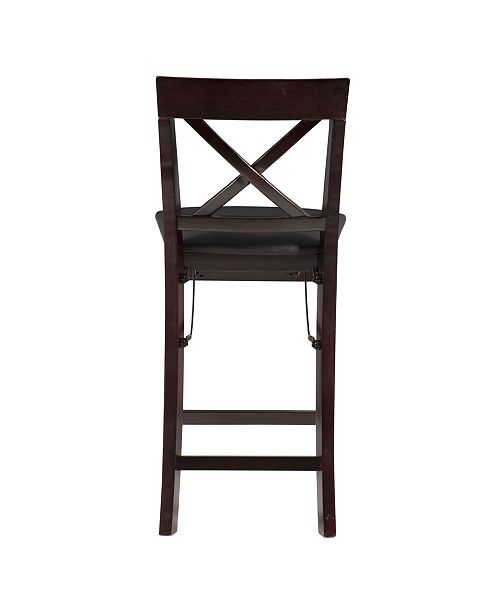 Marvelous Triena X Back Folding Counter Stool Squirreltailoven Fun Painted Chair Ideas Images Squirreltailovenorg