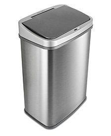 Nine Stars 13.2 Gallon Stainless Steel Sensor Trash Can with Gun Metal Trim